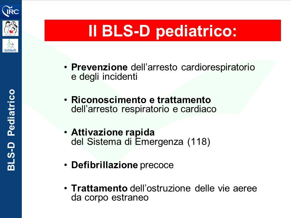 Il BLS-D pediatrico: Prevenzione dell'arresto cardiorespiratorio e degli incidenti.