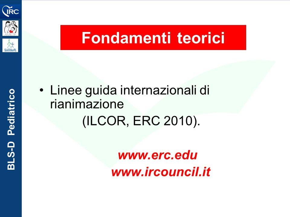 Fondamenti teorici Linee guida internazionali di rianimazione