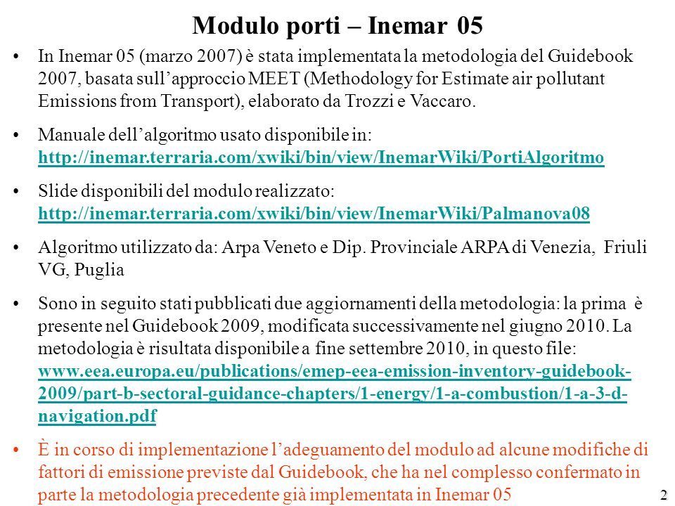 Modulo porti – Inemar 05