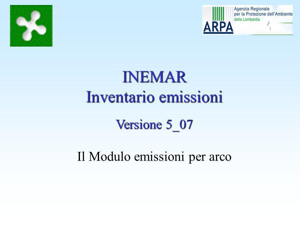 Il Modulo emissioni per arco