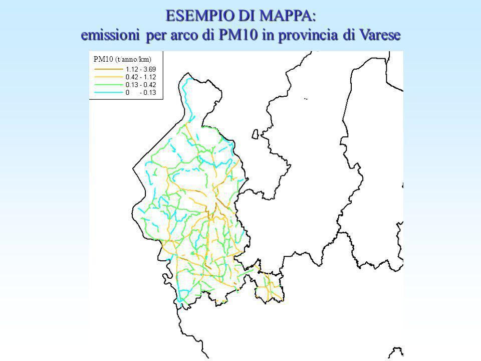 emissioni per arco di PM10 in provincia di Varese