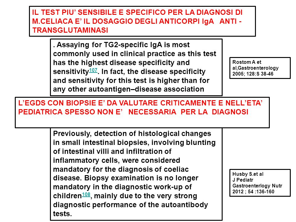 IL TEST PIU' SENSIBILE E SPECIFICO PER LA DIAGNOSI DI M