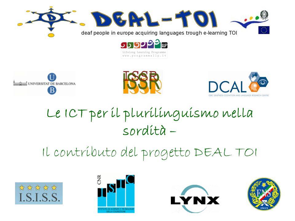 Le ICT per il plurilinguismo nella sordità –