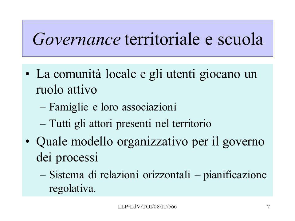 Governance territoriale e scuola