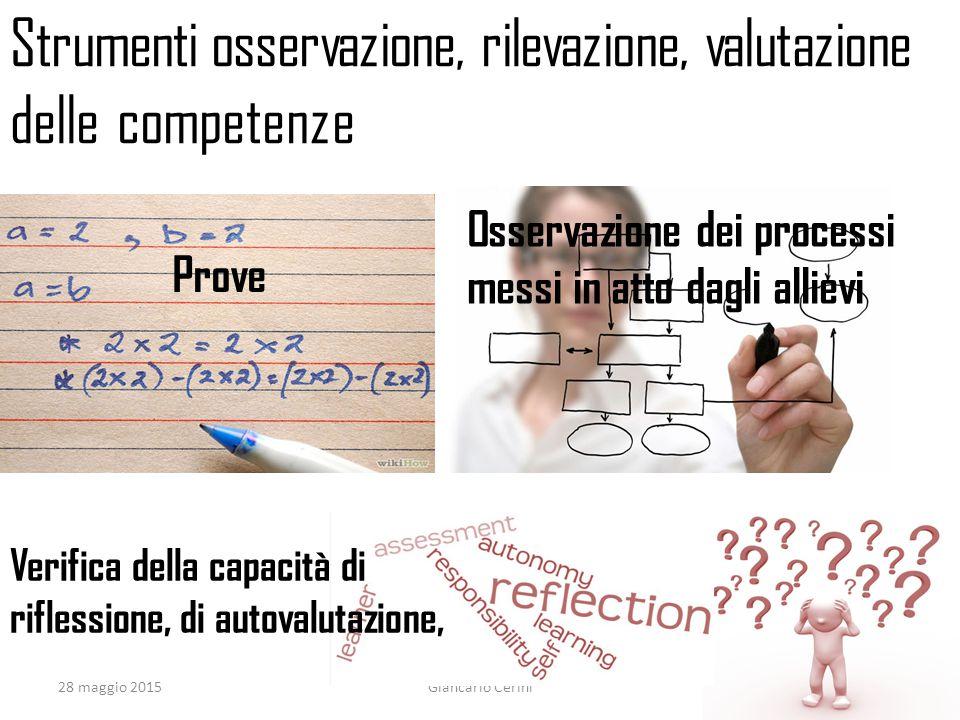 Strumenti osservazione, rilevazione, valutazione delle competenze
