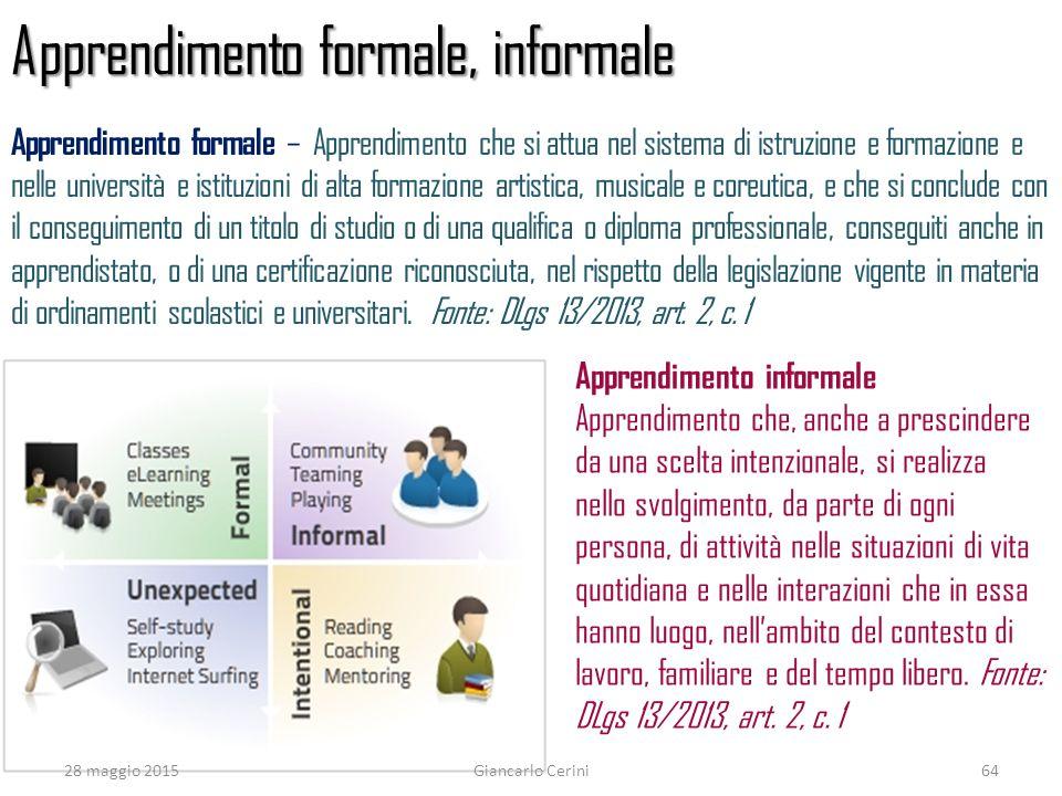 Apprendimento formale, informale