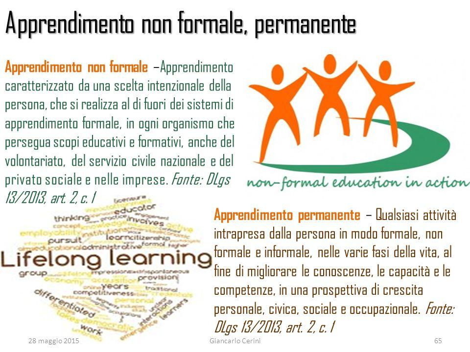 Apprendimento non formale, permanente