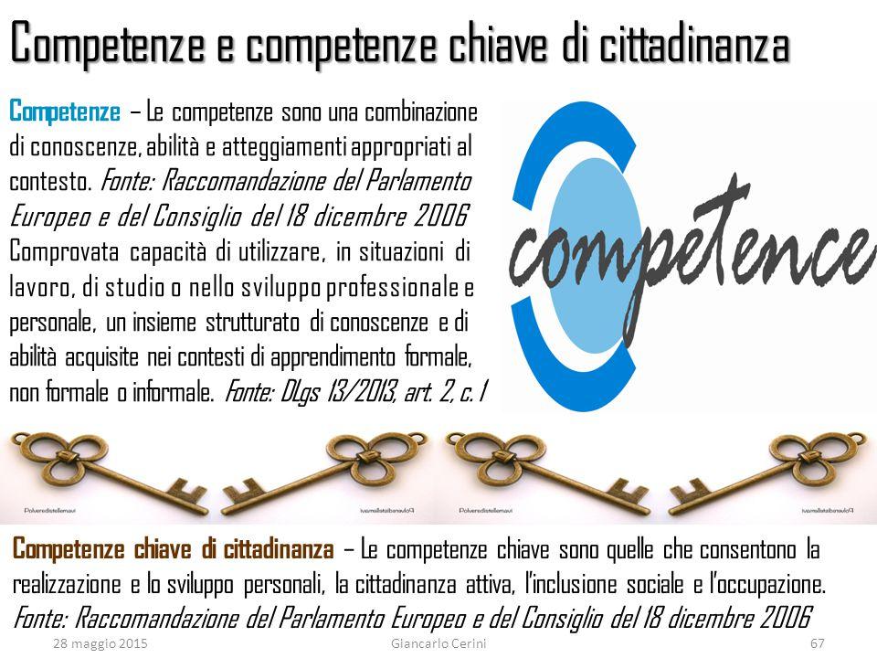 Competenze e competenze chiave di cittadinanza