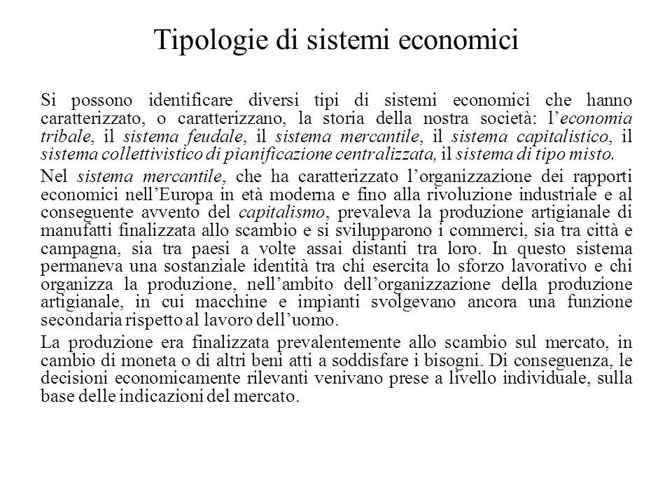 Tipologie di sistemi economici