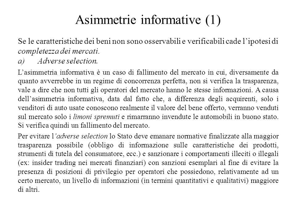 Asimmetrie informative (1)