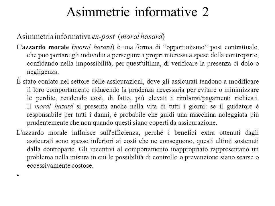 Asimmetrie informative 2