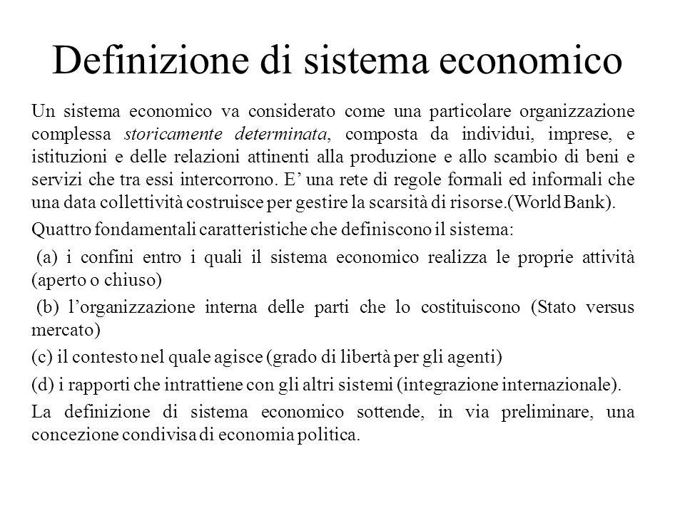 Definizione di sistema economico