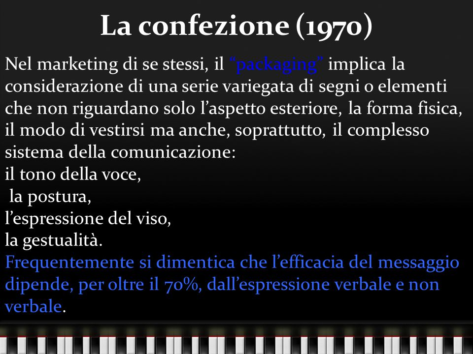 La confezione (1970)