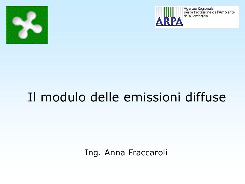 Il modulo delle emissioni diffuse