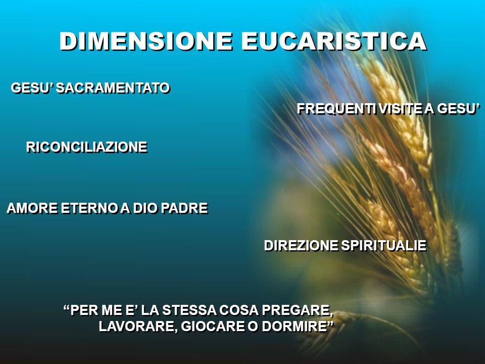 DIMENSIONE EUCARISTICA