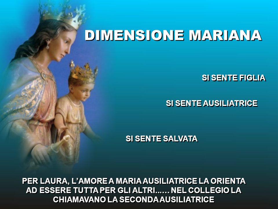 DIMENSIONE MARIANA SI SENTE FIGLIA SI SENTE AUSILIATRICE
