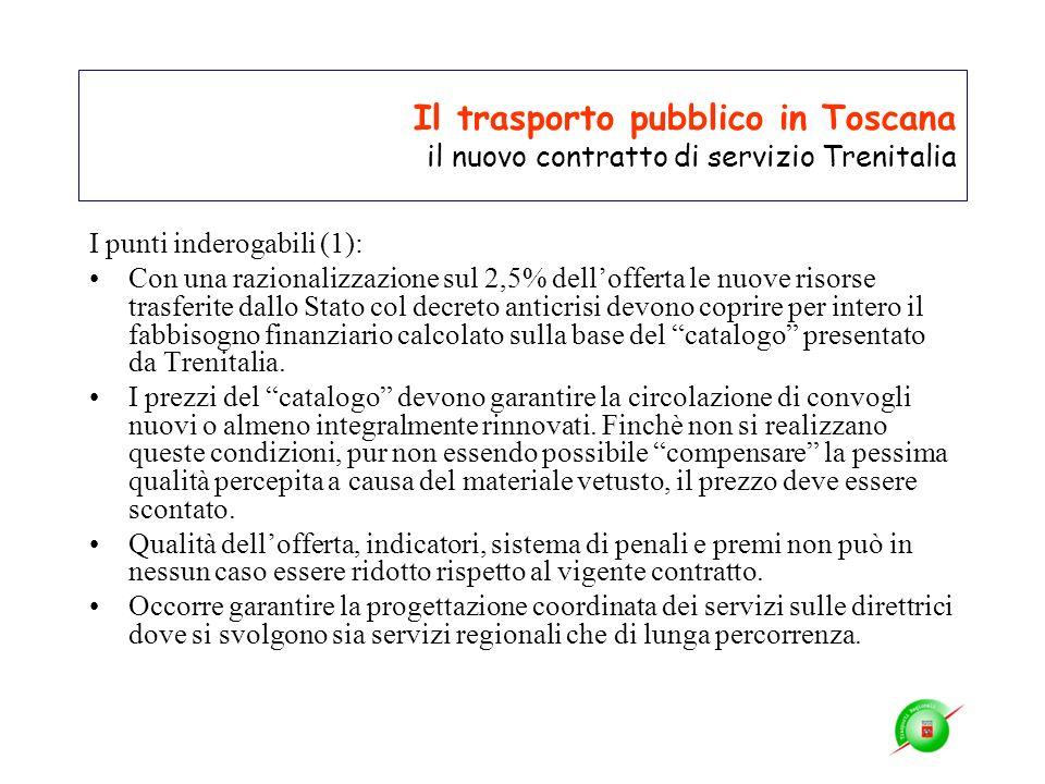 Il trasporto pubblico in Toscana il nuovo contratto di servizio Trenitalia