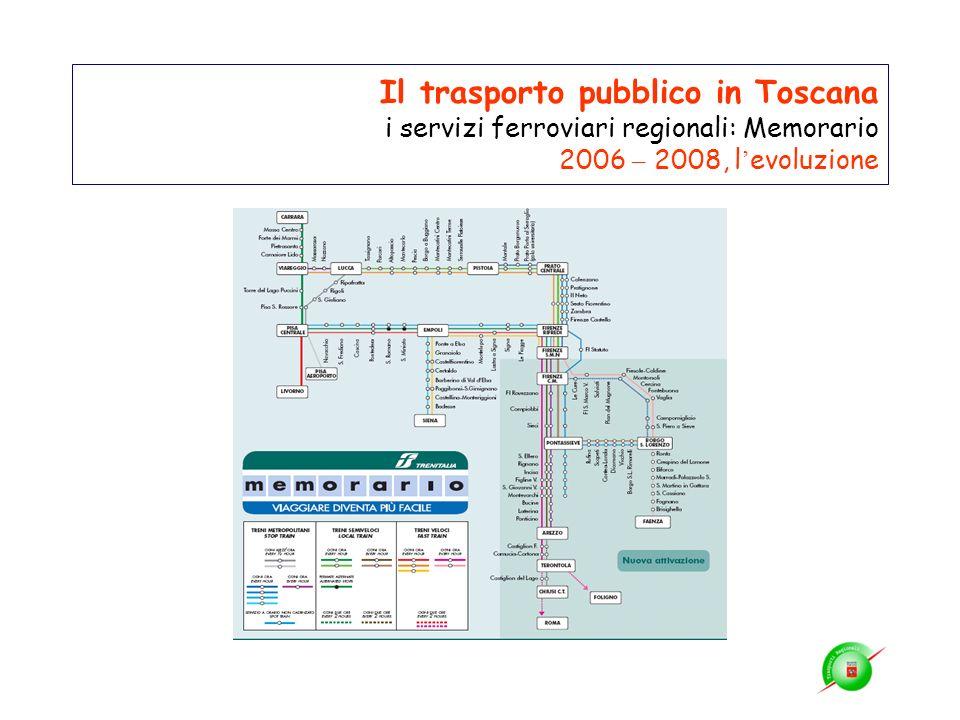 Il trasporto pubblico in Toscana i servizi ferroviari regionali: Memorario 2006 – 2008, l'evoluzione