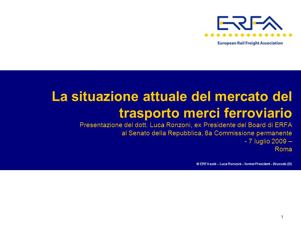 © ERFA asbl – Luca Ronzoni – former President – Brussels (B)