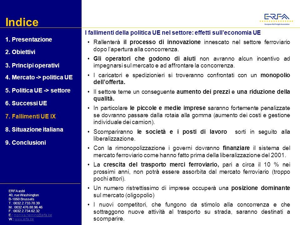 Indice I fallimenti della politica UE nel settore: effetti sull'economia UE. 1. Presentazione.