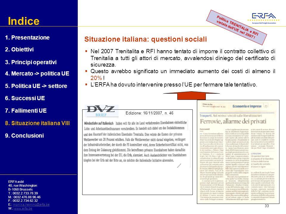 Politica TRENITALIA e RFI vietata dall'UE nel 2007 !