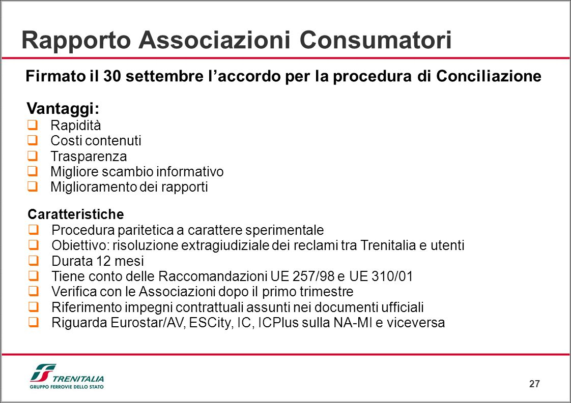 Rapporto Associazioni Consumatori