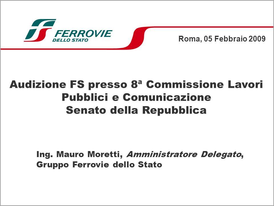 Audizione FS presso 8ª Commissione Lavori Pubblici e Comunicazione