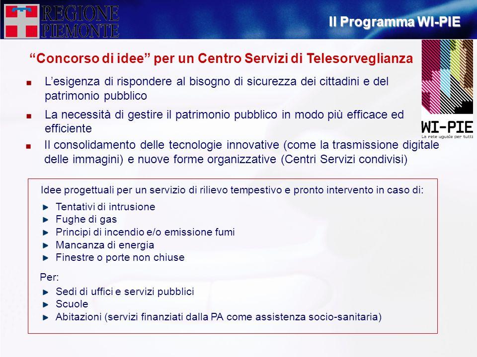 Concorso di idee per un Centro Servizi di Telesorveglianza