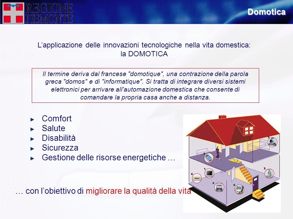 L'applicazione delle innovazioni tecnologiche nella vita domestica:
