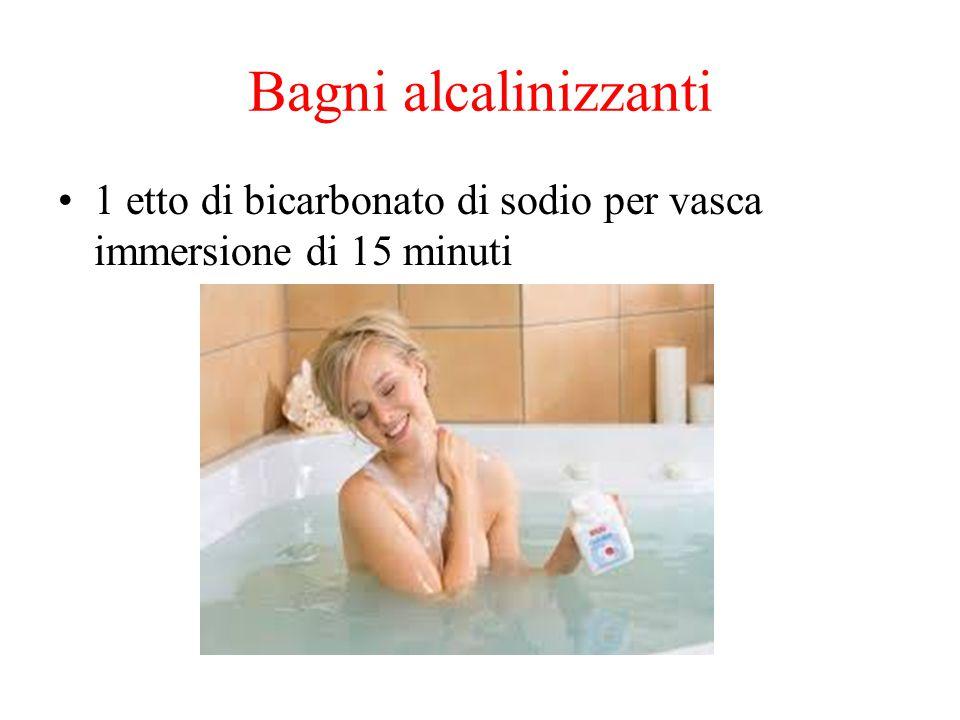 Bagni alcalinizzanti 1 etto di bicarbonato di sodio per vasca immersione di 15 minuti