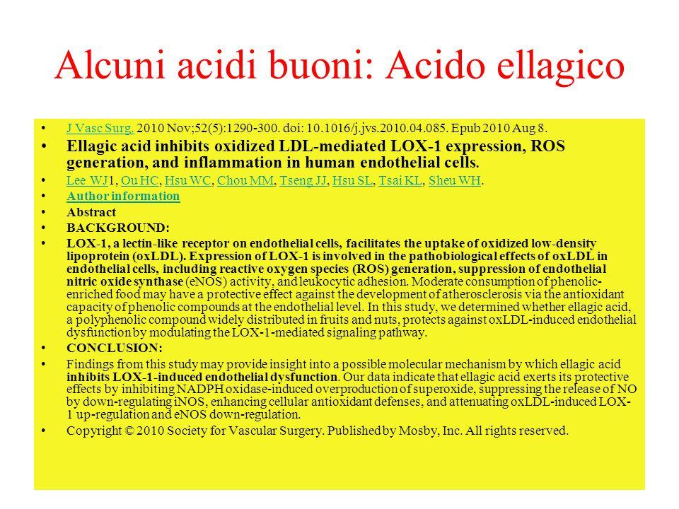 Alcuni acidi buoni: Acido ellagico