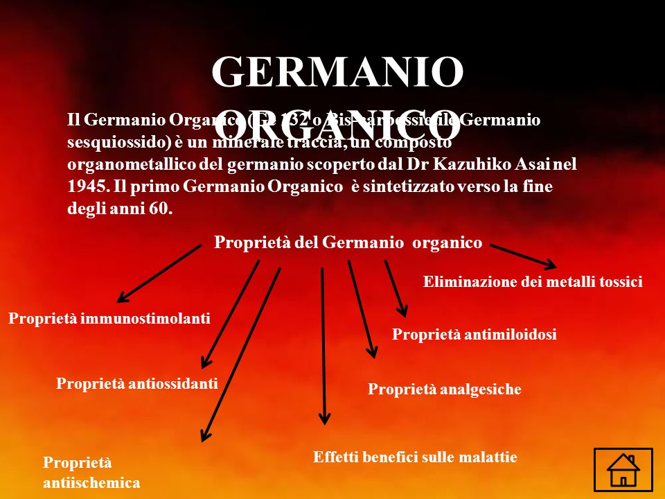 Proprietà del Germanio organico