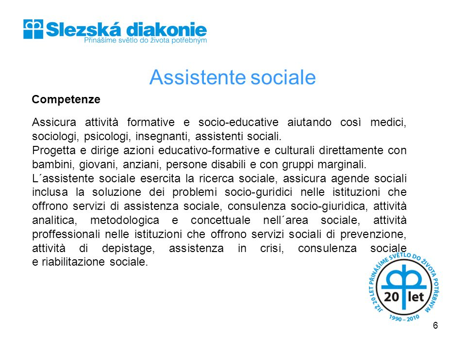 Assistente sociale Competenze