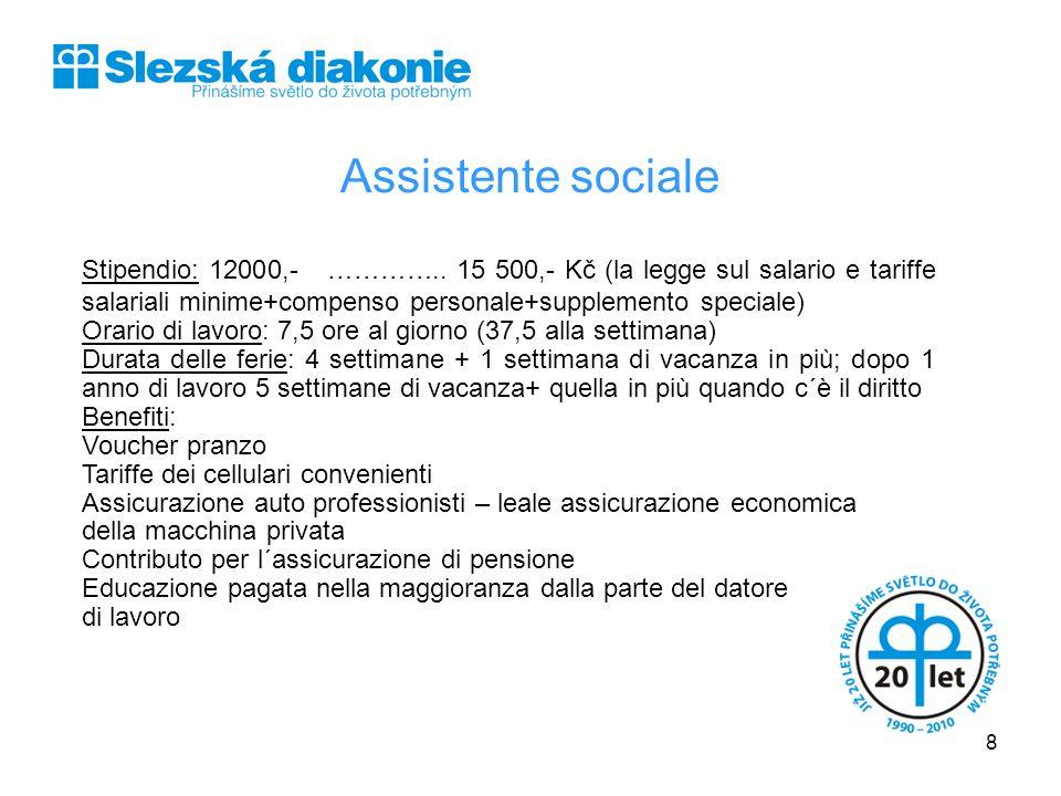 SLEZSKÁ DIAKONIE Assistente sociale.