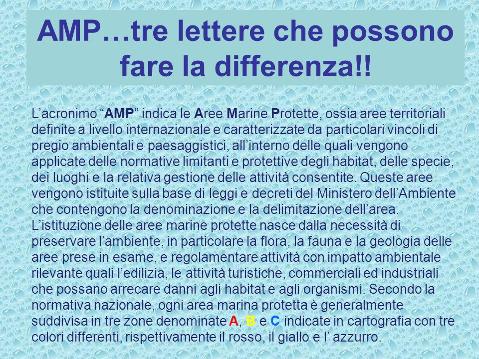 AMP…tre lettere che possono fare la differenza!!