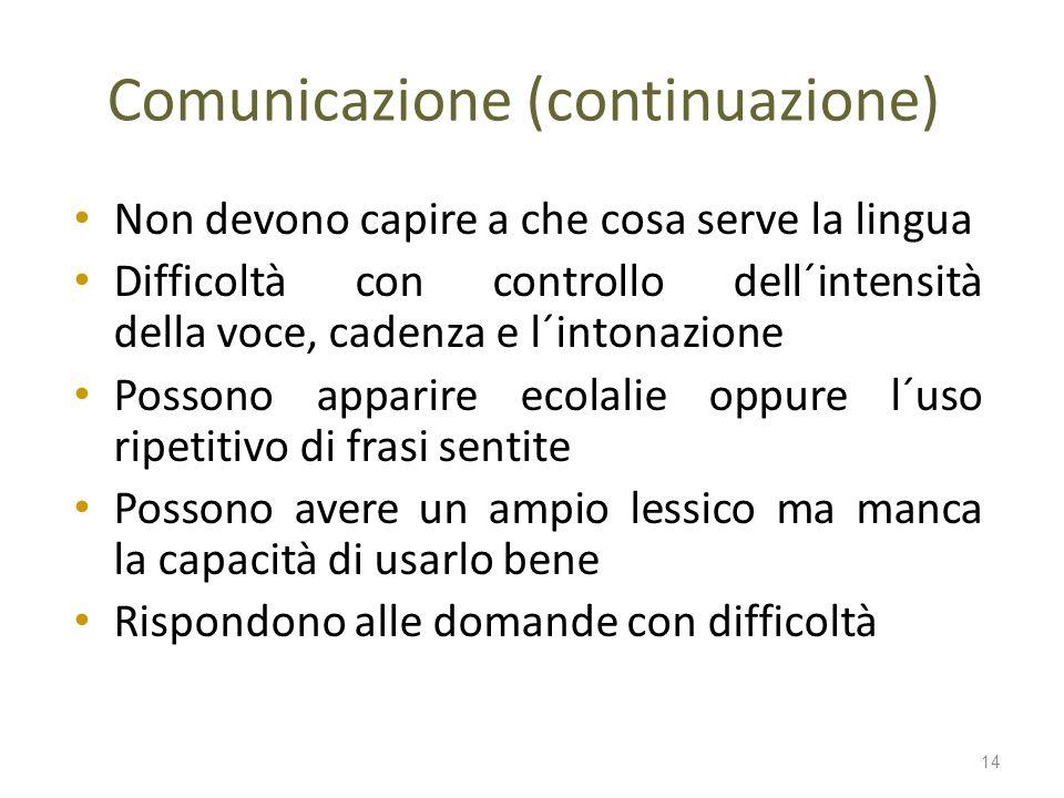 Comunicazione (continuazione)