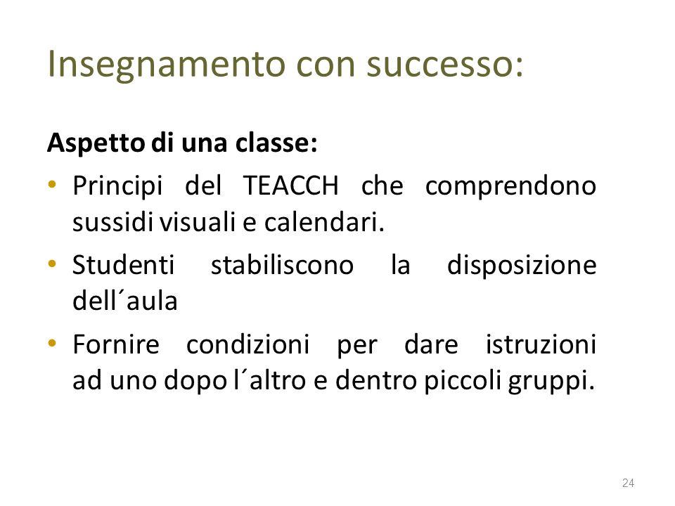 Insegnamento con successo: