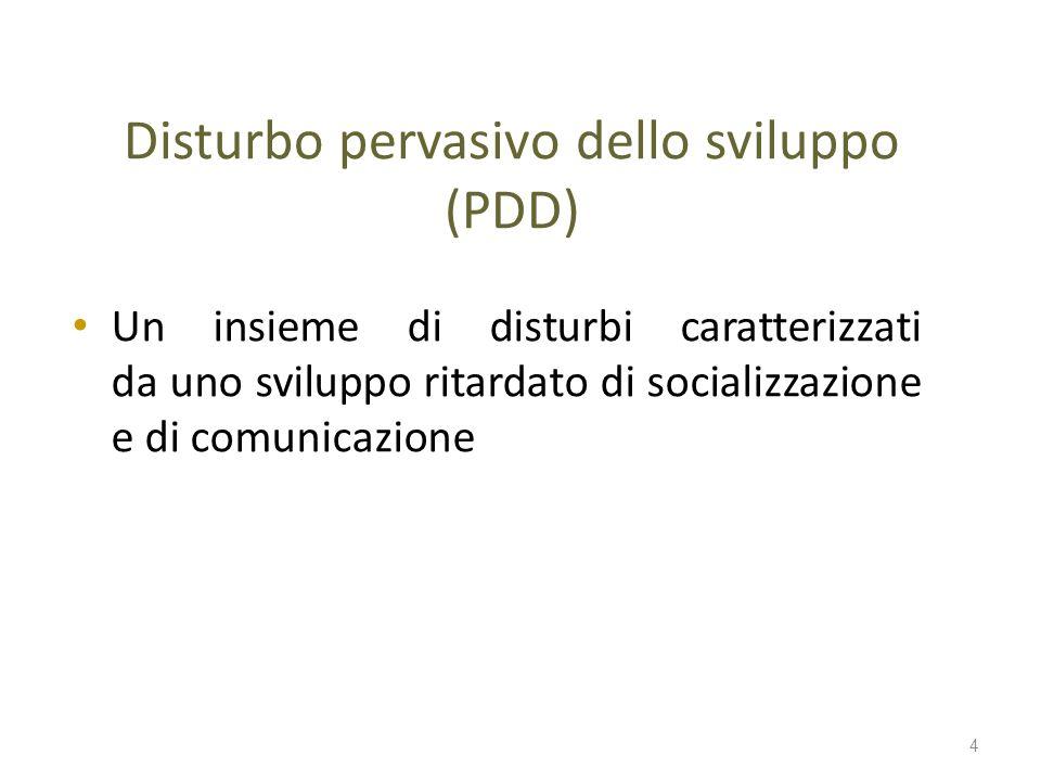 Disturbo pervasivo dello sviluppo (PDD)