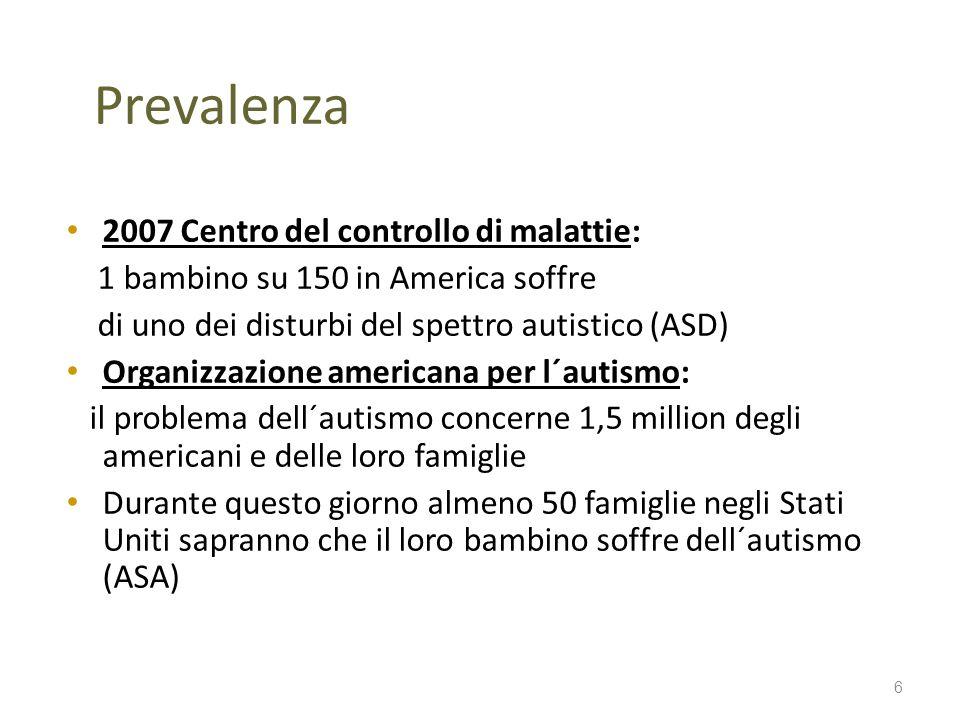 Prevalenza 2007 Centro del controllo di malattie: