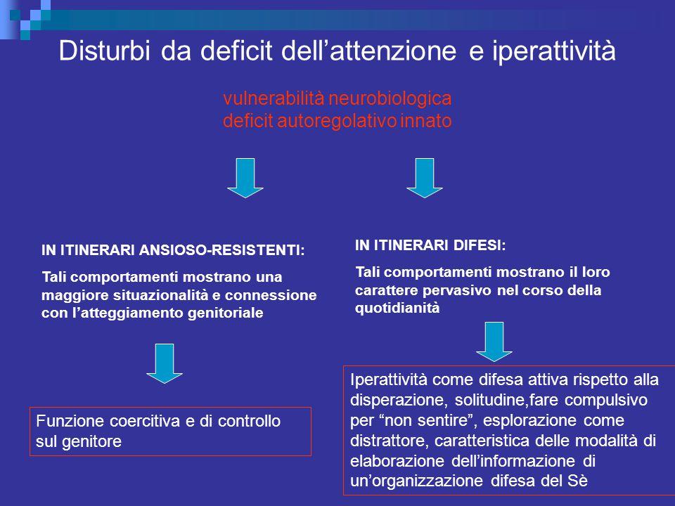 Disturbi da deficit dell'attenzione e iperattività vulnerabilità neurobiologica deficit autoregolativo innato