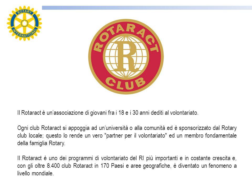 Il Rotaract è un'associazione di giovani fra i 18 e i 30 anni dediti al volontariato.