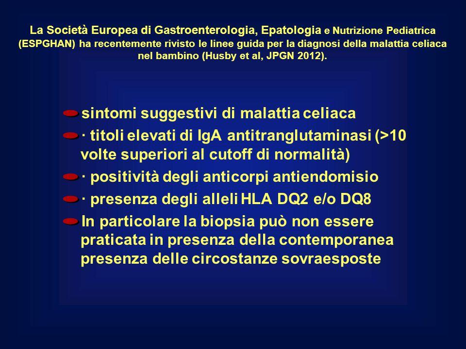 sintomi suggestivi di malattia celiaca