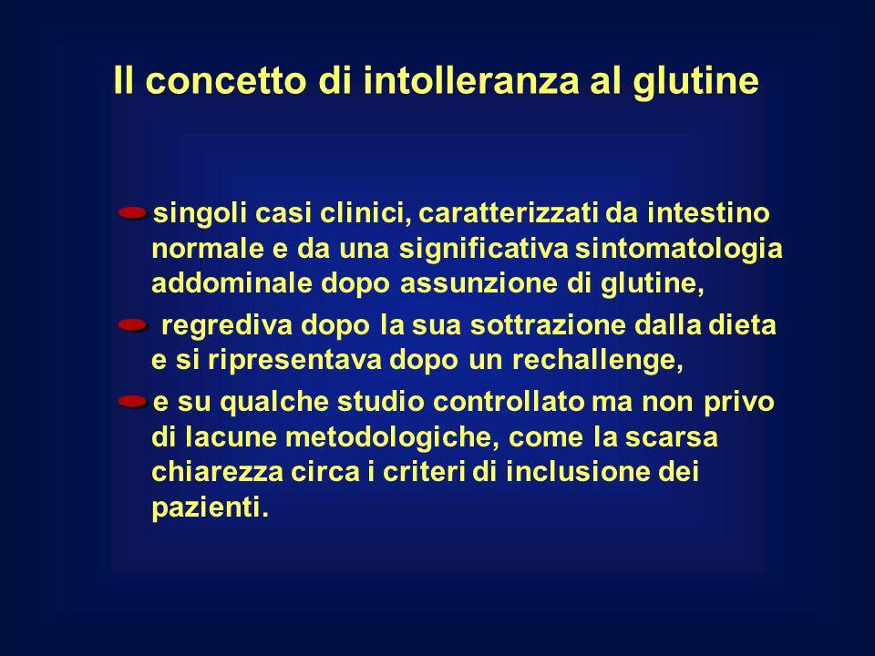 Il concetto di intolleranza al glutine
