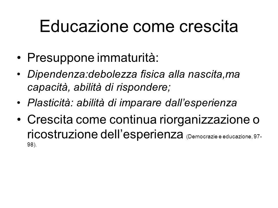 Educazione come crescita