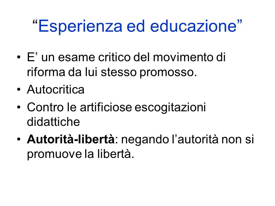 Esperienza ed educazione
