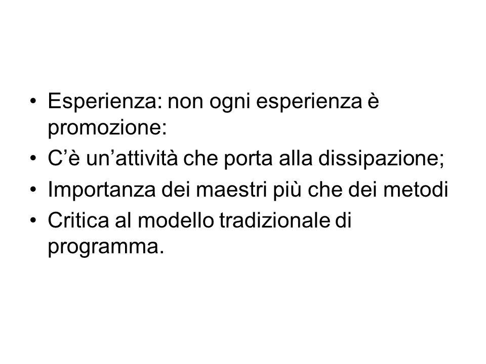 Esperienza: non ogni esperienza è promozione: