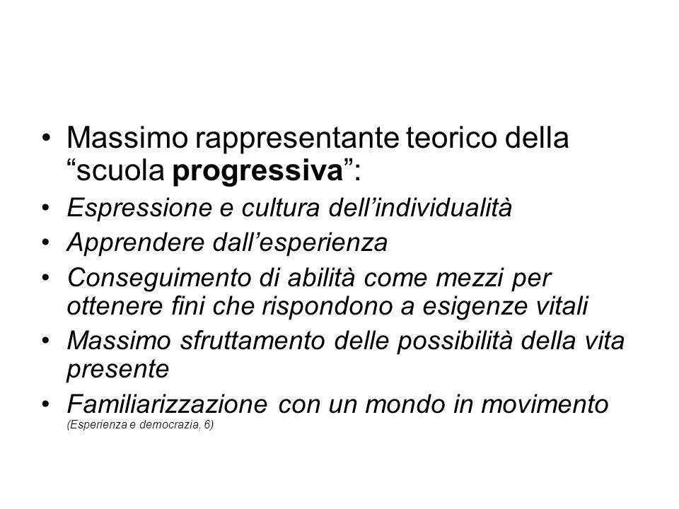 Massimo rappresentante teorico della scuola progressiva :