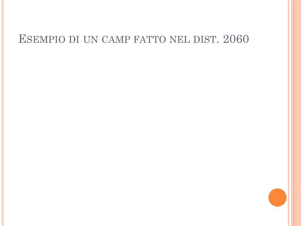 Esempio di un camp fatto nel dist. 2060