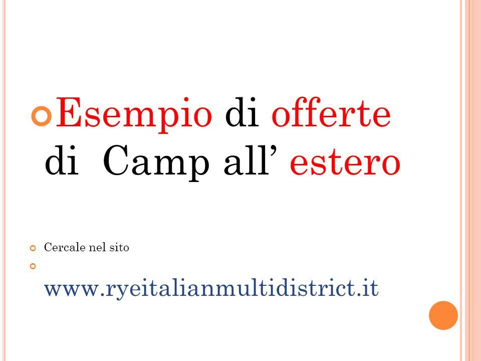 Esempio di offerte di Camp all' estero