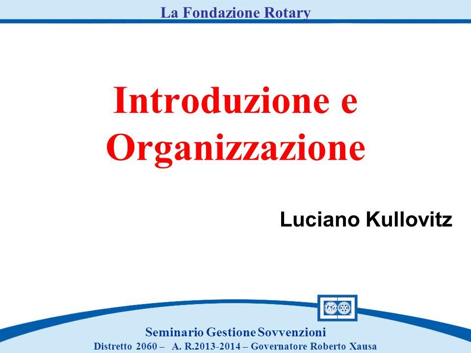 Introduzione e Organizzazione